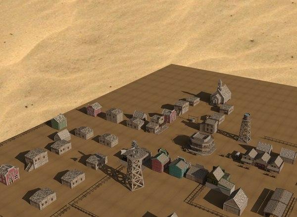western town 3D