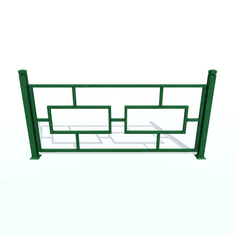 fencing c 3D model