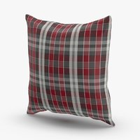 3D model classical-throw-pillows---plaid