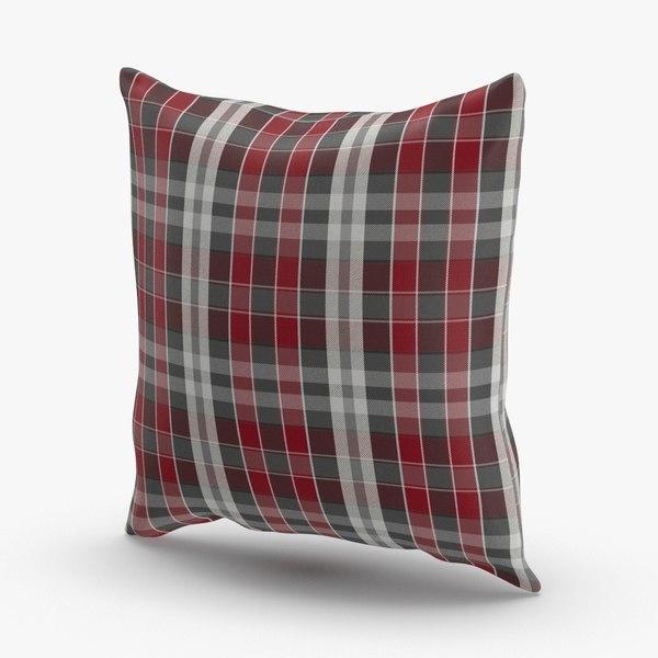 3D model classical-throw-pillows---plaid