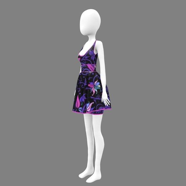 flower dress 1 model