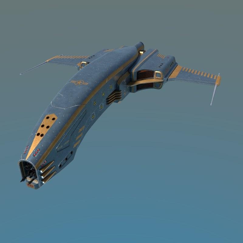 spaceship dagger type 1 3D model