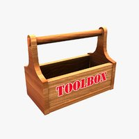 3D toolbox wooden box