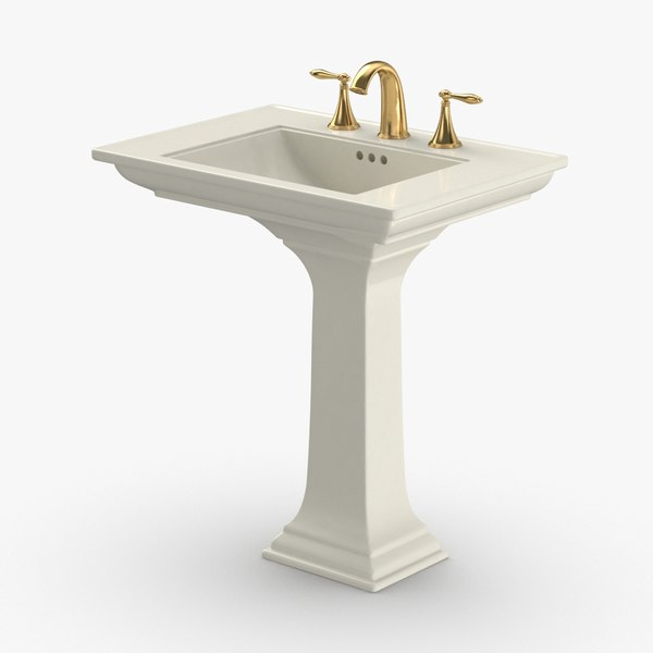 3D classical-bathroom-sink---water-off model