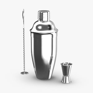 3D cocktail-shaker-stainless-steel