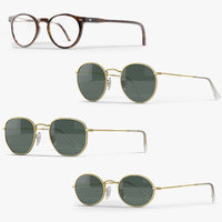 realistic sunglasses frame 3D model