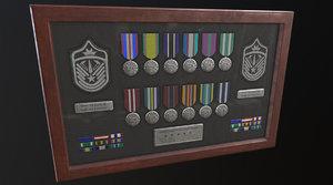 3D police medal board