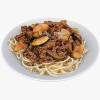 spaghetti meat zuccini 3D model