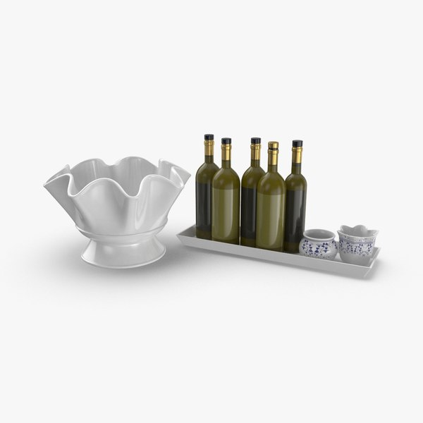 3D kitchen-decor-set-02---without-vegetables model