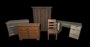 pack furniture 3D model