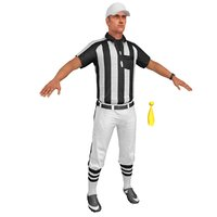 football referee 3D model