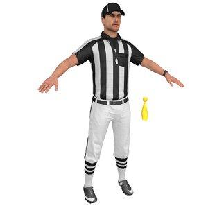 football referee 3D model