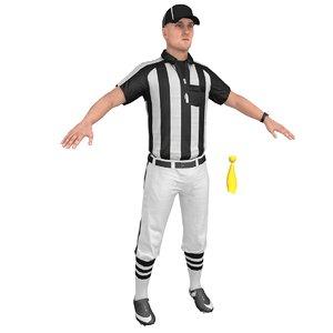 football referee 3D