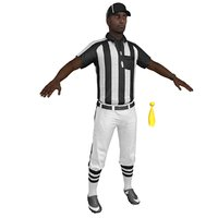 3D football referee model