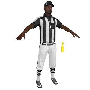 3D football referee model