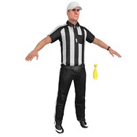 football referee 1 3D model