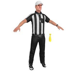football referee 1 3D model