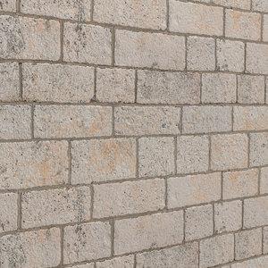 3D stone walls model