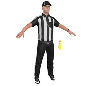 3D football referee