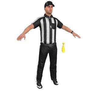 3D football referee 4