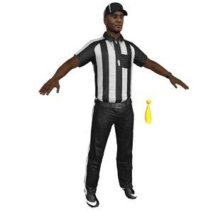 3D model football referee