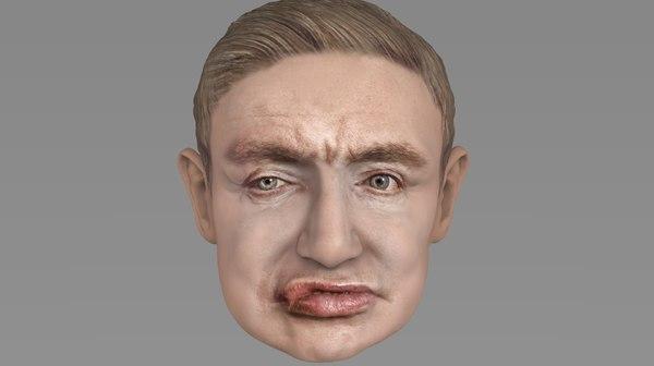 head stephen hawking 3D model
