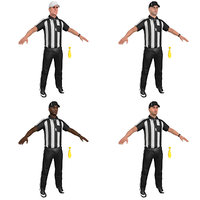 pack football referee 3D model
