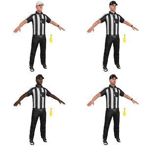 pack football referee 3D model