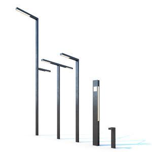 3D modern street lights model