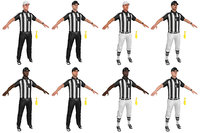 mega pack football referee 3D model