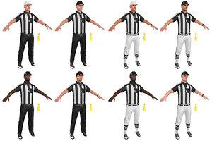 mega pack football referee 3D model