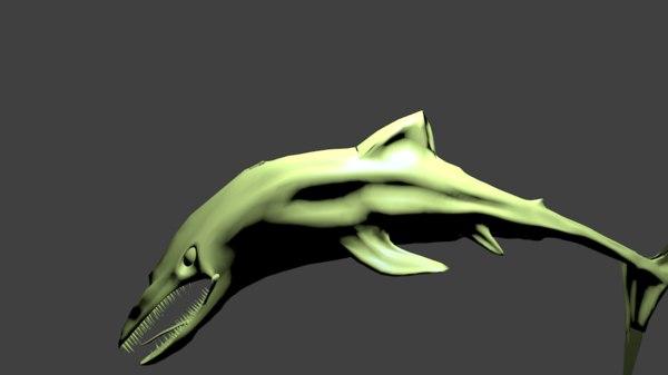 3D model shark monster