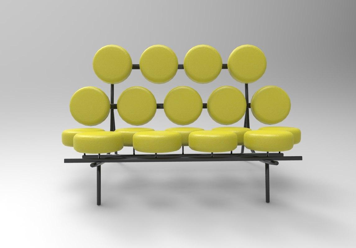 3D George Nelson Marshmallow Sofa