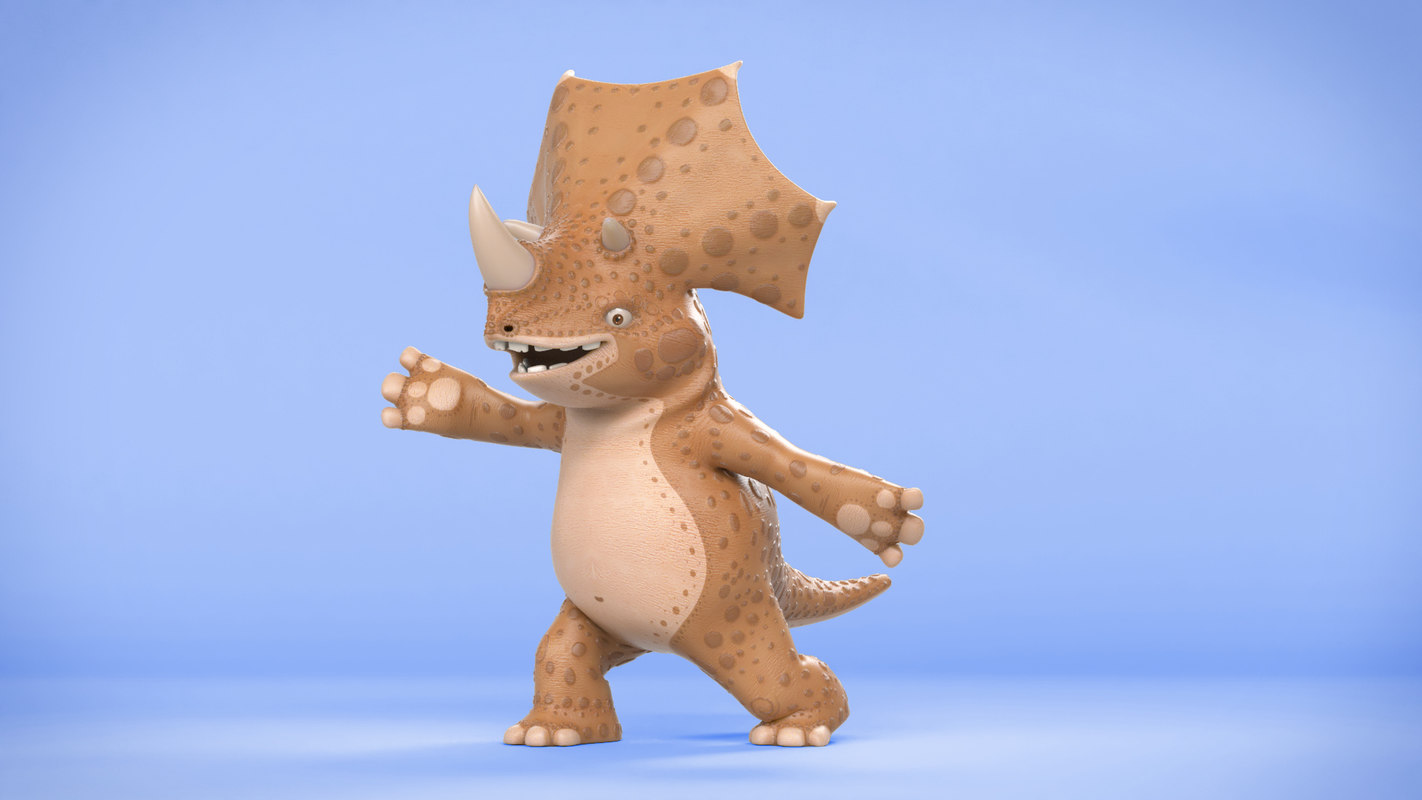 triceratops cartoon 3D