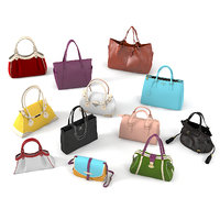 3D realistic luxury women bags