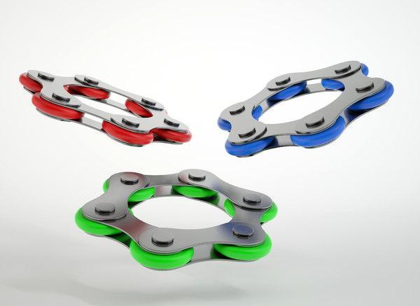 fidget chain toy 3D model