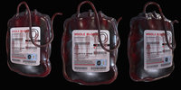 3D blood bag model