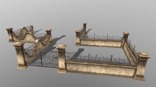 gate wall 3D model