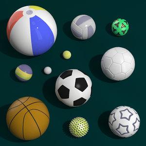 football beach ball 3D model