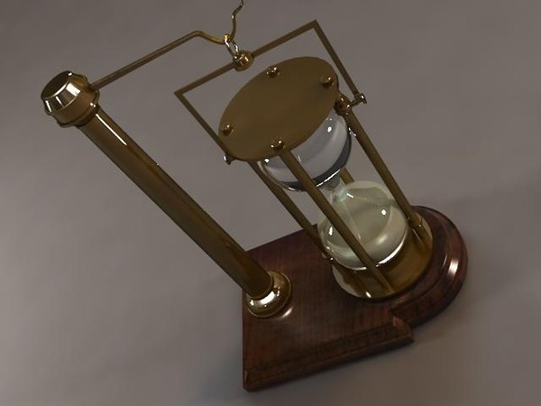 3D hourglass stand