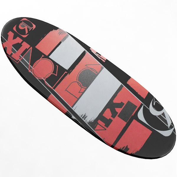 3D board surf surfboard