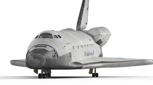 atlantis space shuttle 3D model