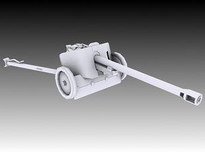 3D model german pak 38