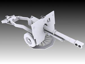 25 pounder 3D model