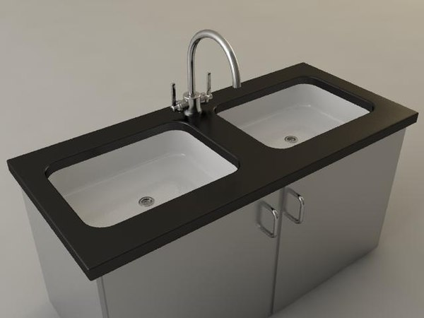 3D commercial sink