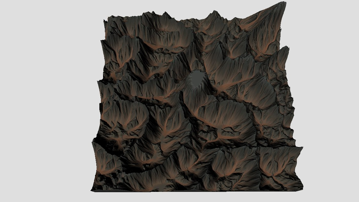 mountains terrain 3D