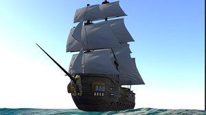 pirate ship 3D