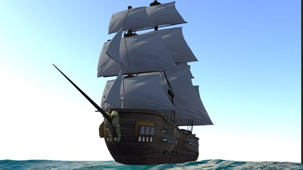 pirate ship 3D