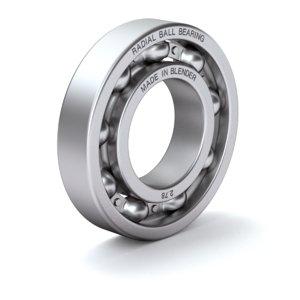 ball bearing radial 3D model