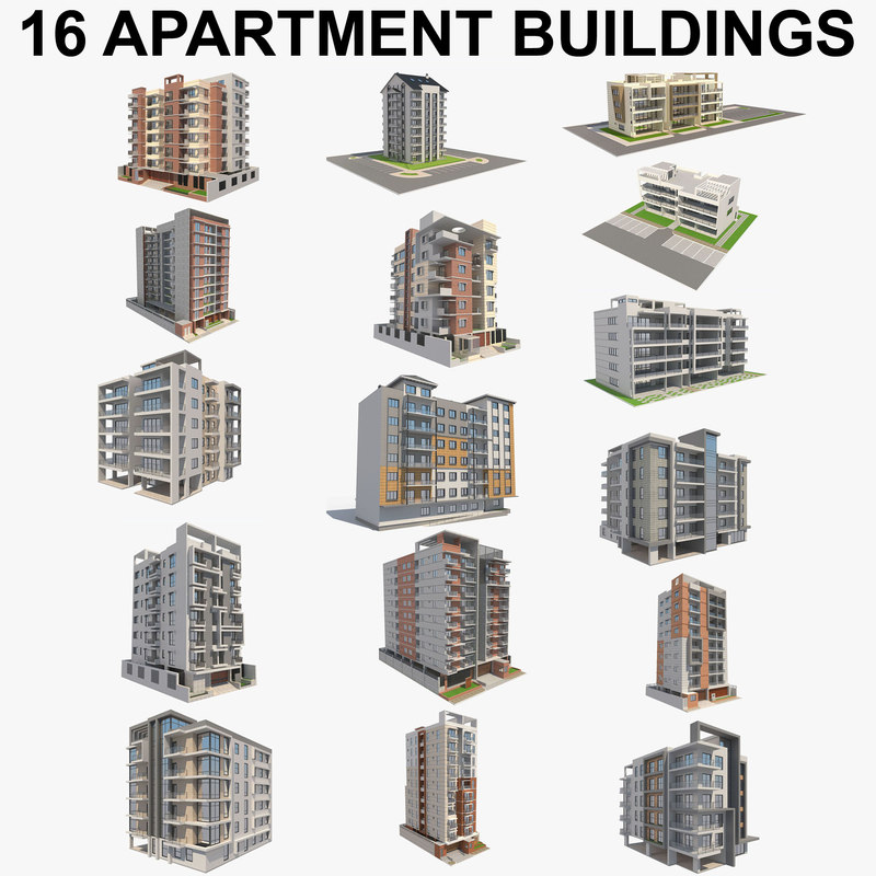 apartment building 3D